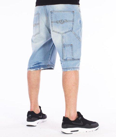 Pit Bull West Coast-Fist Spodnie Krótkie Jeans Jasne Spranie