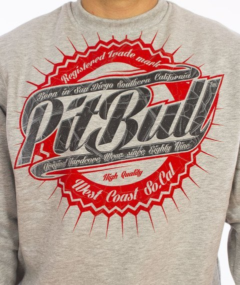 Pit Bull West Coast-Stamp Crewneck Grey Melange