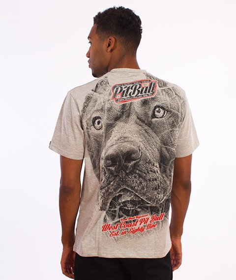 Pit Bull West Coast-Stamp T-Shirt Szary