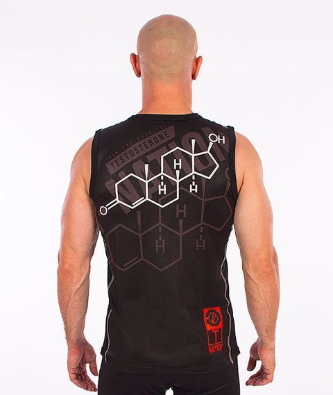 Poundout-Testosterone Bezrękawnik Termoaktywny Czarny