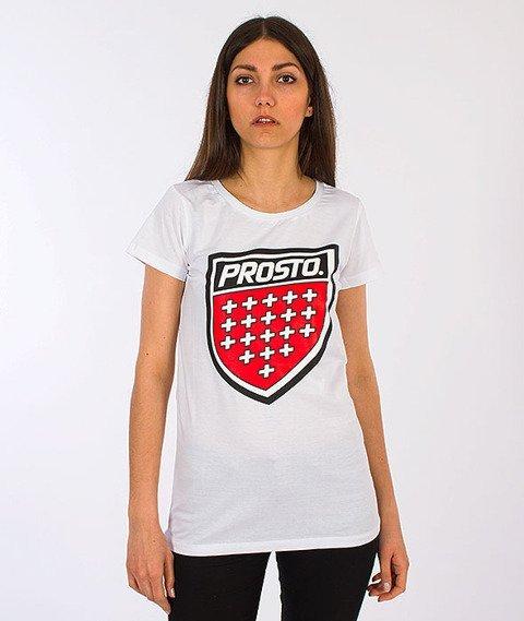 Prosto-Front T-shirt Damski White