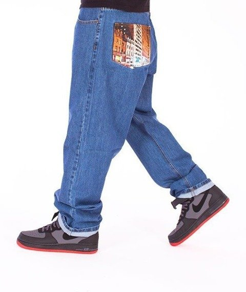 SmokeStory-City Baggy Jeans Light Blue
