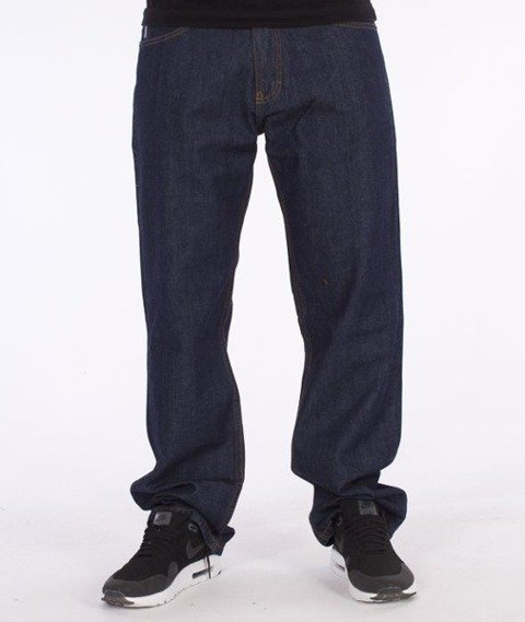 SmokeStory-Dark City Pocket Regular Jeans Dark Blue