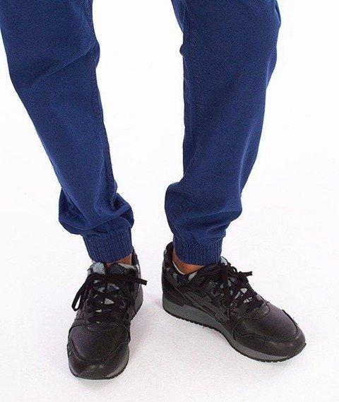 SmokeStory-Jogger Slim Klasyk Spodnie Niebieskie