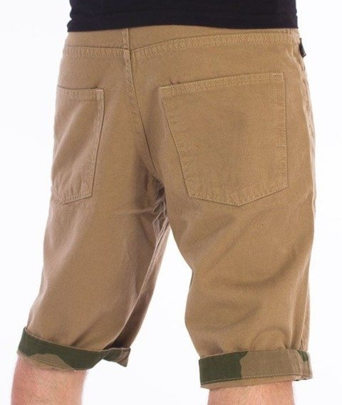 SmokeStory-Moro Wstawki Krótkie Spodnie Beżowe
