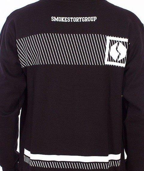 SmokeStory-Multi Lines Bluza Kaptur Czarny