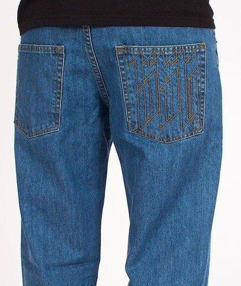 SmokeStory-Outline Slim Jeans Light Blue