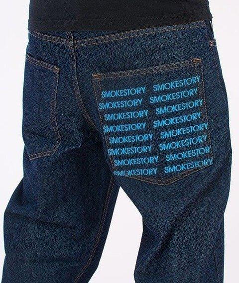 SmokeStory-Pocket Regular Jeans Dark Blue