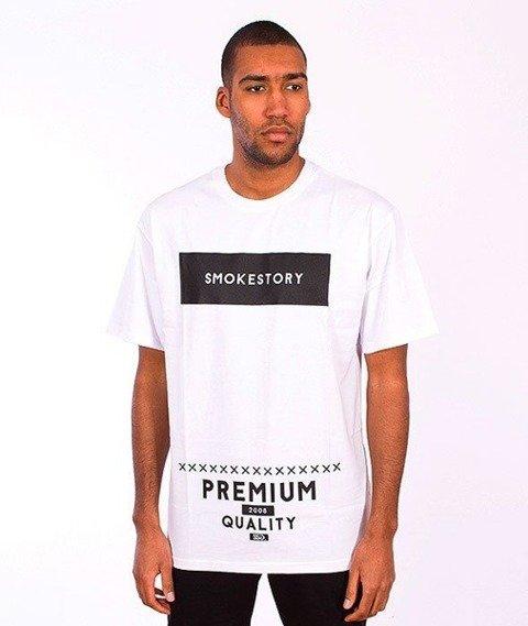 SmokeStory-Rectanagle T-Shirt Biały