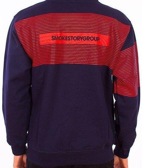 SmokeStory-Stripes Bluza Kaptur Granatowy