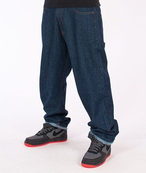 SmokeStory-Tag Baggy Jeans Dark Blue