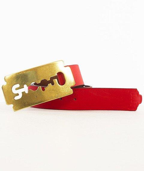 Stoprocent-Razor Pasek Czerwony/Złoty