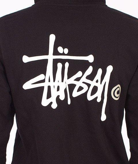 Stussy-Basic Logo Zip Hood Black