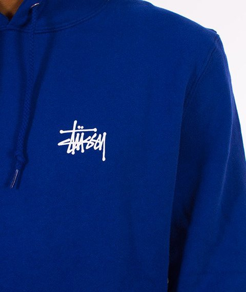 Stussy-Basic Stussy Hood Bluza Kaptur Dark Blue