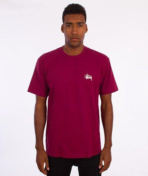 Stussy-Basic T-Shirt Bordowy