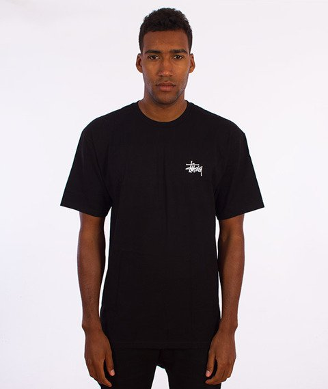 Stussy-Basic T-Shirt Czarny