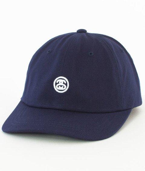 Stussy-Contrast Strap Cap Snapback Czapka Navy