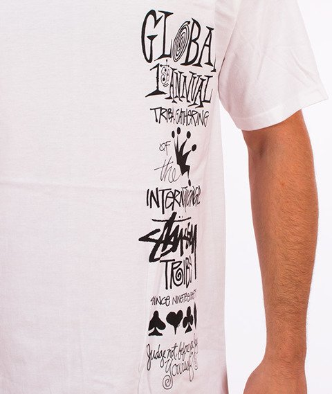 Stussy-Global Gathering T-Shirt Biały