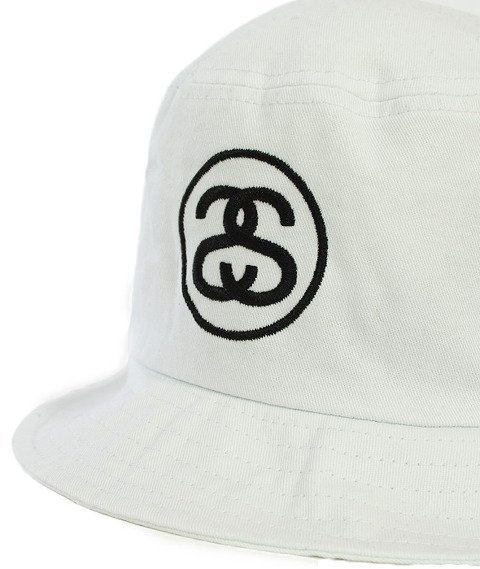 Stussy-Ss Link Bucket Hat White