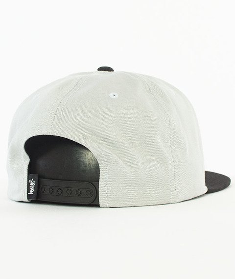 Stussy-Stock Lock Sp17 Snapback Czapka Black/Grey