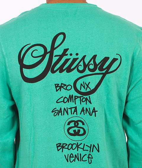 Stussy-World Tour Crew Green