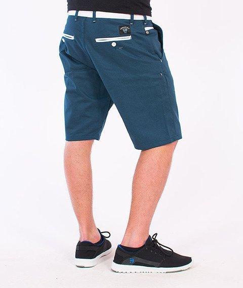 Turbokolor-Chino Shorts Ocean Blue/White SS16