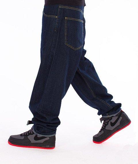Unhuman-Baggy Jeans Spodnie Dark Blue
