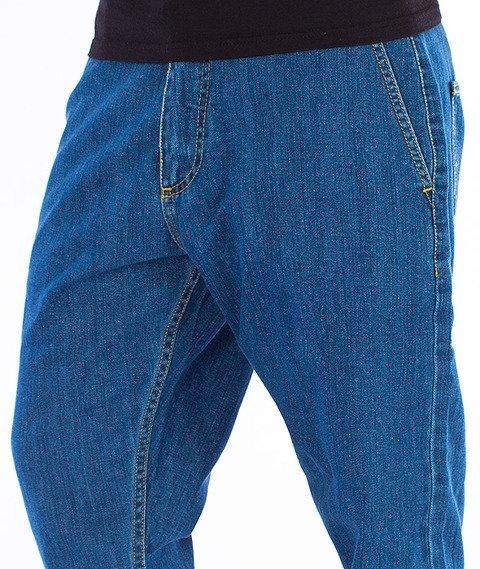Unhuman-Klasyk Jogger Spodnie Jeans Blue