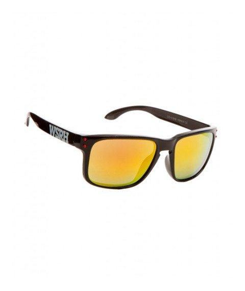 WSRH-Logo Okulary Przeciwsłoneczne Czarne/Żółto-Czerwone
