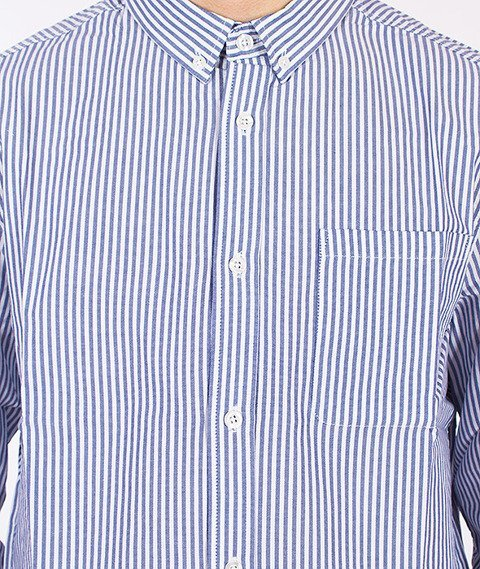 Wemoto-Santiago Shirt White/Navy Blue