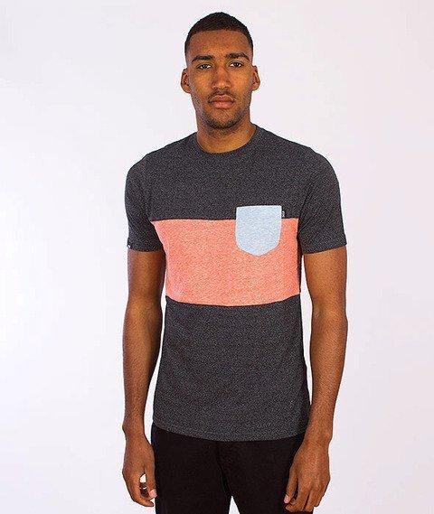 Wrung-Tricolore T-Shirt Łososiowy/Grafitowy