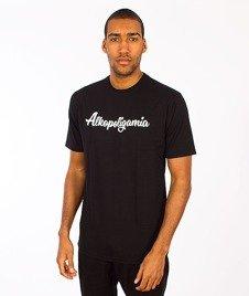 Alkopoligamia-Aa' Basic Front T-shirt Czarna