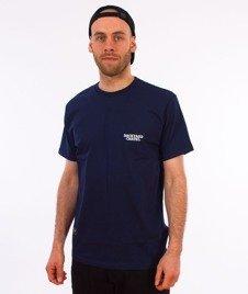 Backyard Cartel-Back Label T-Shirt Granatowy