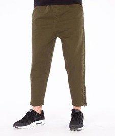 Backyard Cartel-Wave Short Fit Spodnie Materiałowe Khaki