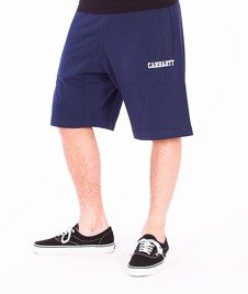 Carhartt-College Sweat Short Blue/White