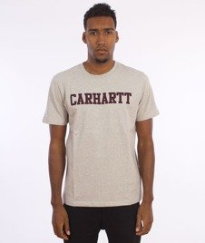 Carhartt- S/S College T-Shirt Snow Heather/Chianti