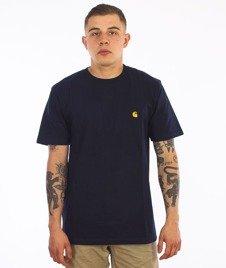 Carhartt WIP-Chase T-Shirt Navy/Gold