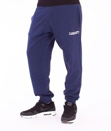 Carhartt WIP-College Sweat Pants Blue/White