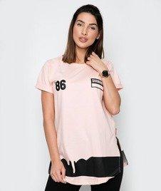 Diamante-86 T-shirt Damski Łososiowy