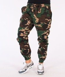 Diamante-Classic Jogger Pants Woodland Camo