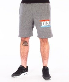 Dixon37-Gradient Spodnie Krótkie Dresowe Grafitowe