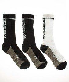 Extreme Hobby-Block Socks Skarpety 3 Pack Czarne/Białe