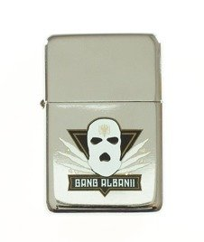 Gang Albanii-Logo 2 Zapalniczka Silver