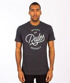 Iriedaily-My City Typo T-shirt Coal