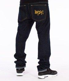 Mass-Signature Tapered Fit Jeans Spodnie Rinse Blue