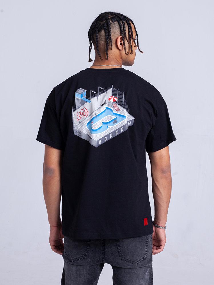 Biuro Ochrony Rapu POOL T-Shirt Oversize Czarny