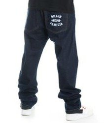 Brain Dead Familia BDF Spodnie Jeans ciemny Niebieski