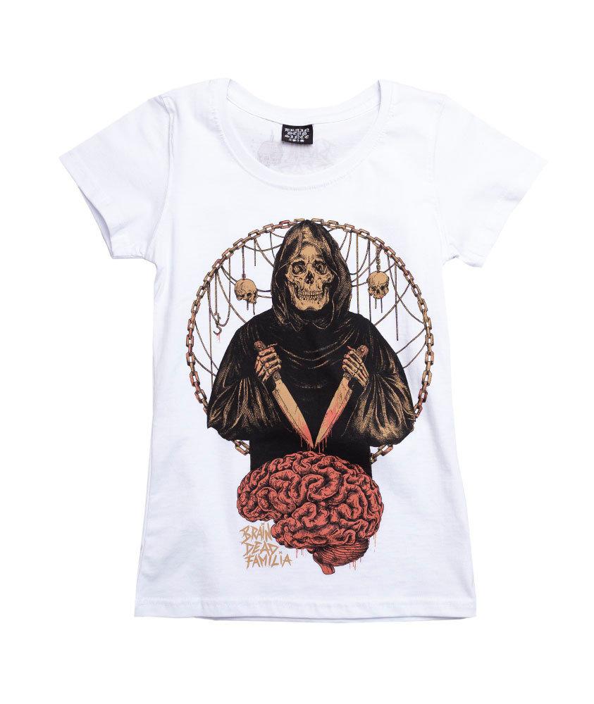 Brain Dead Familia MÓZG T-shirt Damski Biały