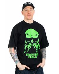 Brain Dead Familia-MaskaT-shirt Czarny