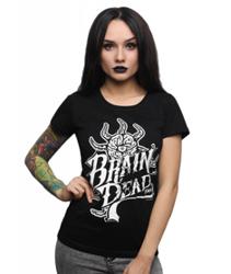 Brain Dead Familia-Occult Baseball T-shirt Damski Czarny
